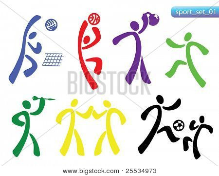 Sports icon set