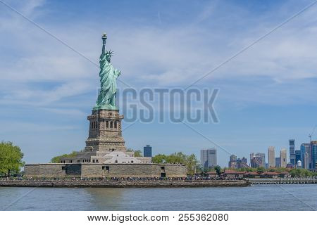 Statue Of Liberty In New York City With Copyspace