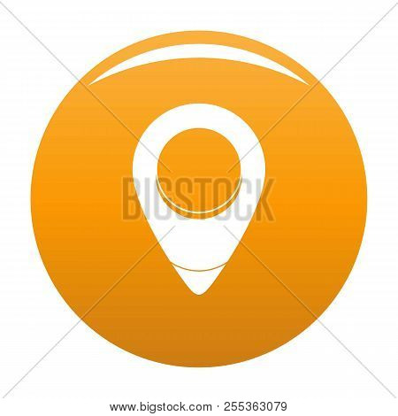 Fixation Pin Icon. Simple Illustration Of Fixation Pin Vector Icon For Any Design Orange