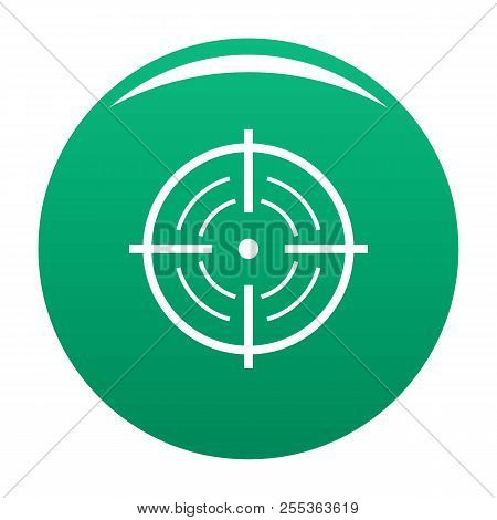Rear Sight Icon. Simple Illustration Of Rear Sight Vector Icon For Any Design Green