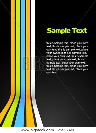Abstract vector colorful background with modern lines