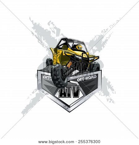 Off-road Atv Buggy Logo, Extreme. Eps 10 Vector Graphics. Layered And Editable.