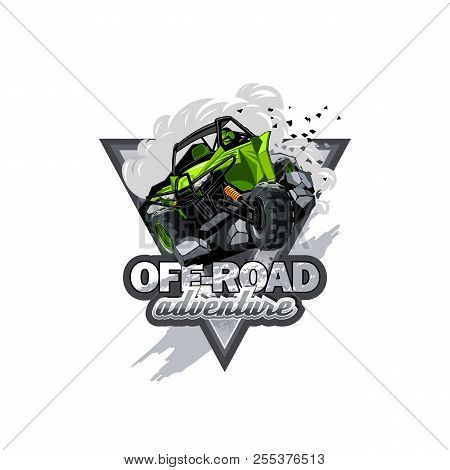 Off-road Atv Buggy Logo, Extreme Adventure. Eps 10 Vector Graphics. Layered And Editable.