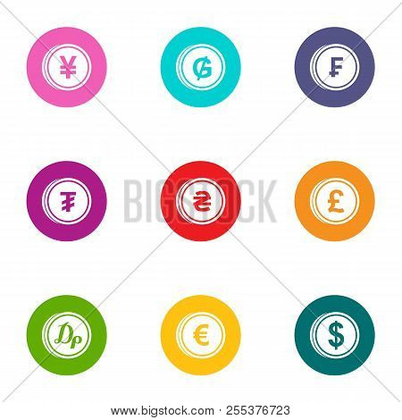 Penny Icons Set. Flat Set Of 9 Penny Vector Icons For Web Isolated On White Background