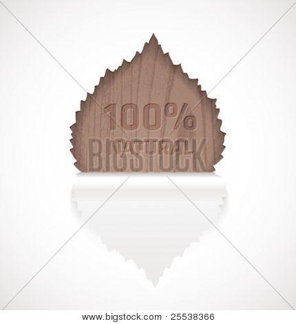 Vector 100% natural label