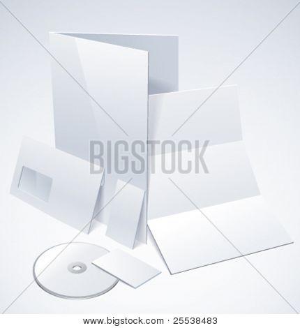 Vector set of corporate identity elements
