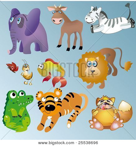 vector animal set.