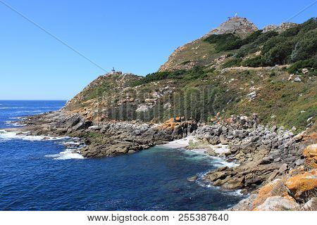 Faro Da Porta And Faro De Cies In Cies Islands. Galicia, Spain
