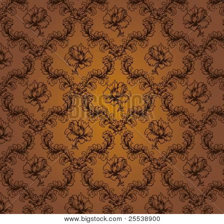 seamless damask pattern2, vector
