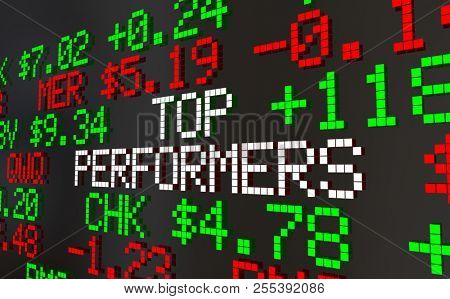 Top Performers Best Stock Picks Market Ticker Prices 3d Animation poster