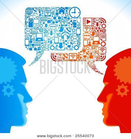 社会网络,全球计算机网络中的通信
