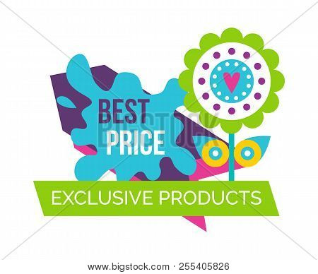 Exclusive Products Best Price Springtime Label With Decorative Simple Flower With Heart In Center, S