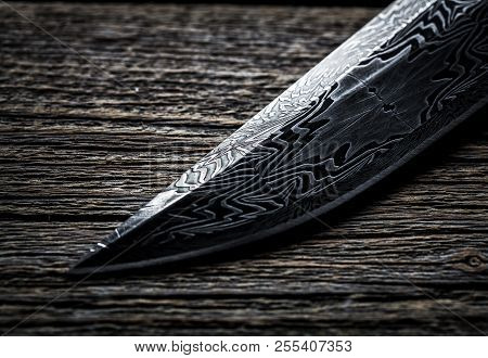 Knife Handmade From Steel And Wood Handle  A