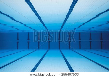 Underwater Empty Swimming Pool.
