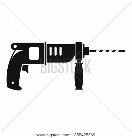 Hammer Drill Icon. Simple Illustration Of Hammer Drill Icon For Web Design Isolated On White Backgro