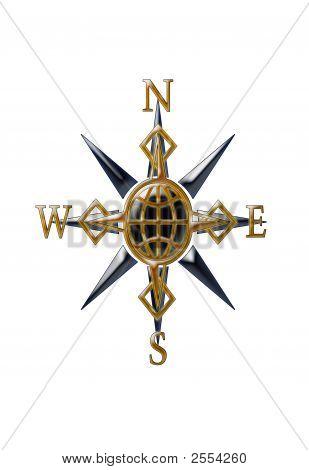 Gold & Black Compass