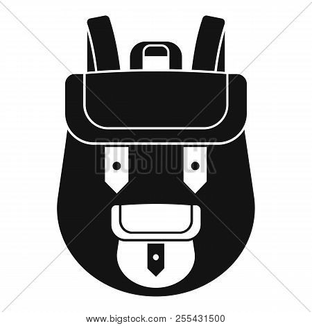 Backpack Icon. Simple Illustration Of Backpack Icon For Web Design Isolated On White Background
