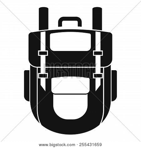 Explore Backpack Icon. Simple Illustration Of Explore Backpack Icon For Web Design Isolated On White