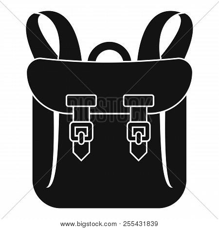 Adventure Backpack Icon. Simple Illustration Of Adventure Backpack Icon For Web Design Isolated On W