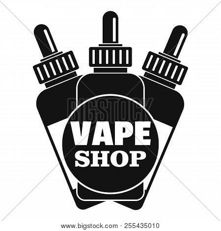 Vape Liquid Shop Logo. Simple Illustration Of Vape Liquid Shop Logo For Web Design Isolated On White