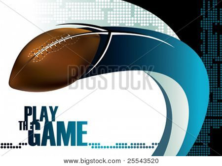 US-amerikanischer American-Football-Poster-Hintergrund. Vektor-Illustration.