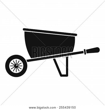 One Wheel Barrow Icon. Simple Illustration Of One Wheel Barrow Icon For Web Design Isolated On White