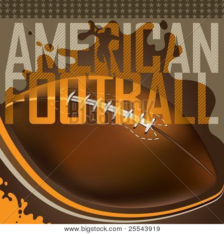 US-amerikanischer american-Football-Banner entworfen. Vektor-Illustration.