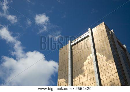 Golden Skyscraper - Symbol Of Financial Success