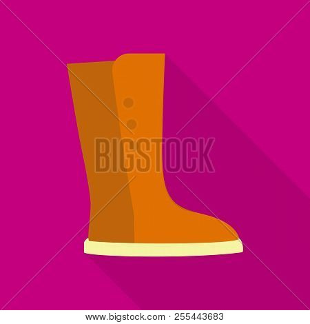 Tall Boot Icon. Flat Illustration Of Tall Boot Icon For Web