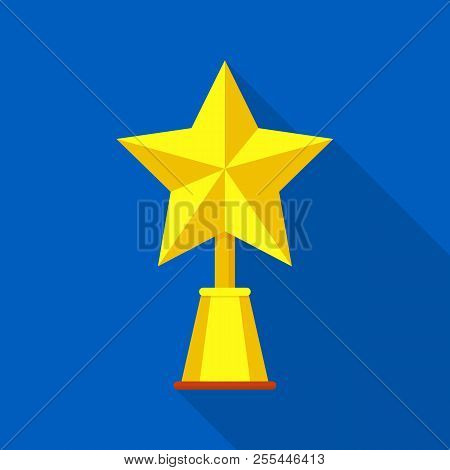 Champion Star Icon. Flat Illustration Of Champion Star Icon For Web
