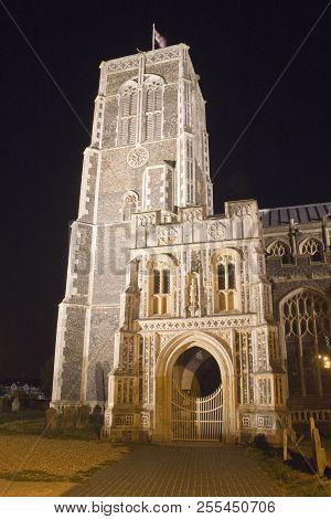 Church Of St Edmund, Southwold, Suffolk, England, Floodlit At Night