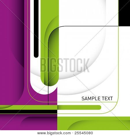 Stylish business layout with designed shapes. Vector illustration.