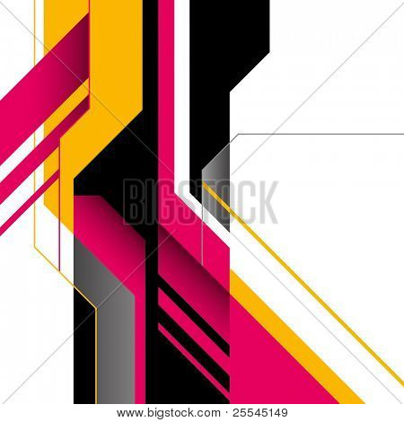 Futuristic layout with designed shapes. Vector illustration.
