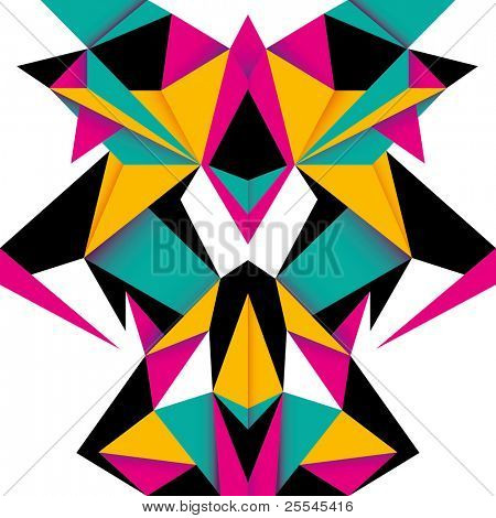 Futuristic background with designed abstraction. Vector illustration.