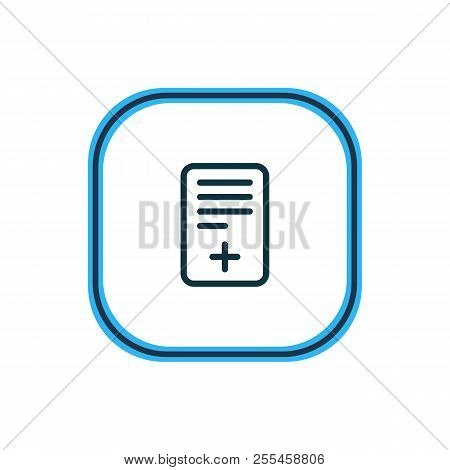 Vector illustration of page icon line. Beautiful bureau element also can be used as positive icon element. poster