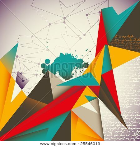 poster of Illustrated abstract layout. Vector illustration.