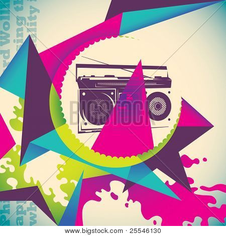 Urban colorful background. Vector illustration.