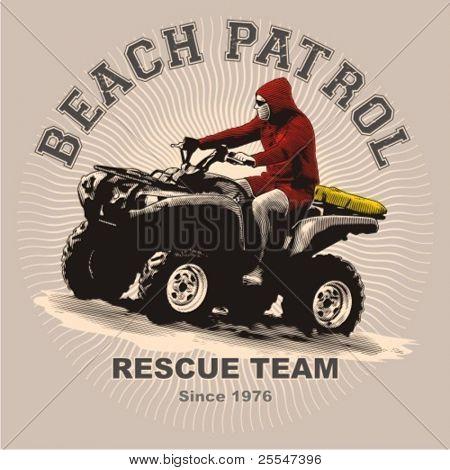 Beach patrol on atv print and application