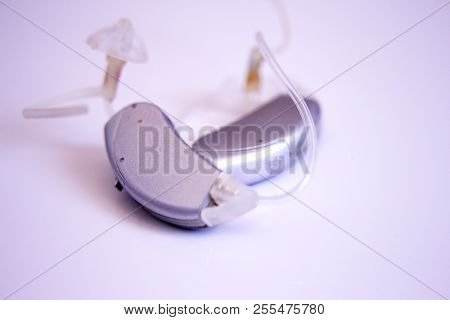 Hearing Aid For Deaf People. No People