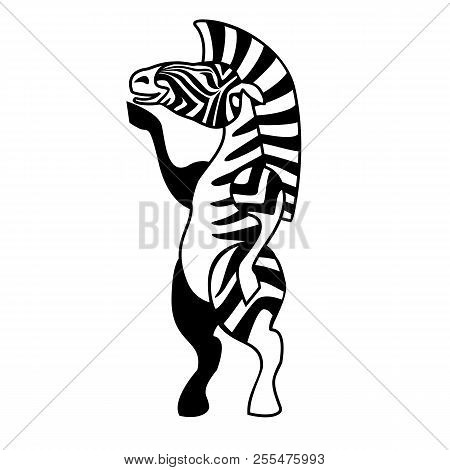 Zebra Standing On Two Vector Photo Free Trial
