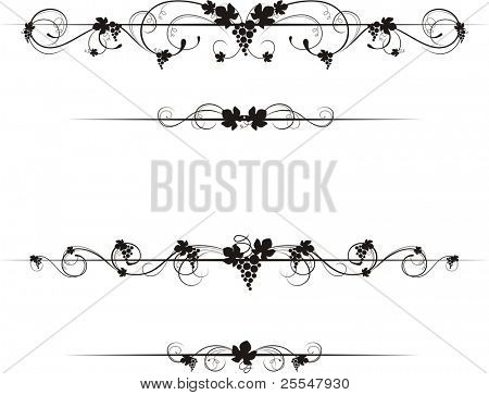 wine decorative ornate,each elemet on individual layer