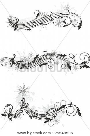 christmas musical design elements