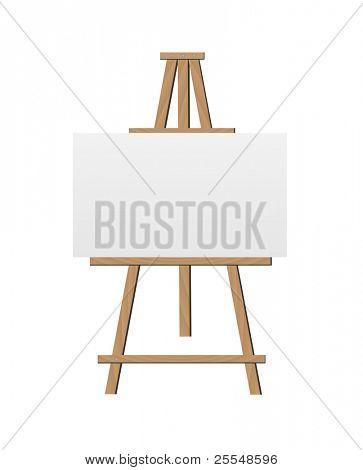 Vector Easel Illustration