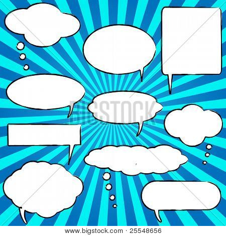 Vector Comic Speech Chat Bubbles poster