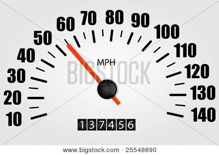 White Speedometer Illustration
