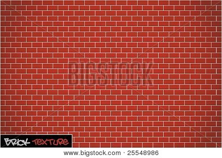 Brick Wall Background Vector Texture