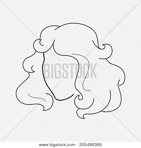 Curly Hair Icon Line Vector Photo Free Trial Bigstock