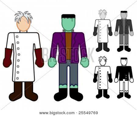 Doctor Frankenstein and Monster Classic Character Figures
