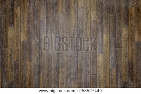 New Dark Wood Floor Planks Texture Background