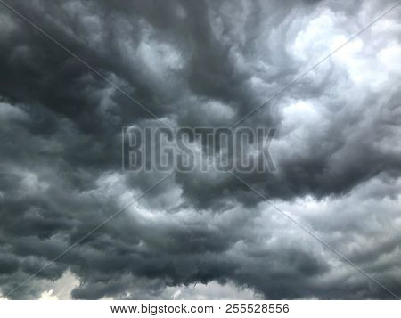 Storm Clouds, Dark Cloudy Before Storm, Clouds Sky Before Heavy Raining.
